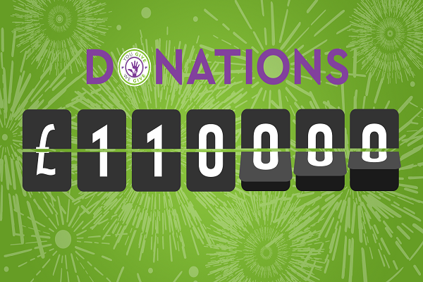 Over £110,000 donated to date!